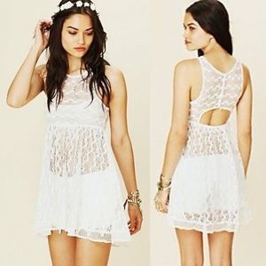 NWOT Free People Madame Butterfly White Lace Dress